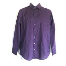 Kenneth Cole Reaction Slim Fit Mens Purple Long Sleeve Dress Shirt 15-15... - $14.84