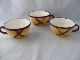 3 Vernon Ware Organdie Mid-Century Modern Cups NO Saucers Mint Condition - $9.00