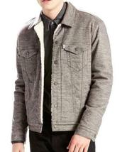 NEW LEVI'S MEN PREMIUM BUTTON UP SHERPA TRUCKER JACKET SASQUATCH GRAY 282490001 image 3