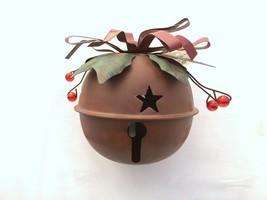 """4.5"""" Tall Metal Rustic Holiday Jingle Bell Christmas Decor  - $13.06"""