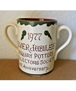 Torquay Pottery Collectors Society Coffee Cup Mug Double Handle 1977 - $36.61