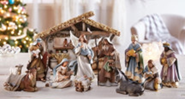 Bethlehem nights deluxe nativity set q36   copy