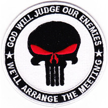 God Will Judge Our Enemies, We'll Arrange The Meeting - Punisher Skull W... - $11.87