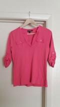 Ralph Lauren Pink Women Shirt Long Sleeve Medium Size - $9.90
