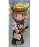 PRECIOUS MOMENTS 15'' Doll cowboy Mickey The world's Children  - $20.00