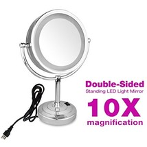 GURUN 8.5-Inch Tabletop Double-Sided LED Lighted Makeup Mirror with 10x ... - $73.99