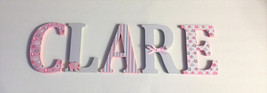 Wood Letters-Nursery Decor- Pink & Grey Elephant theme- Price Per Letter... - $12.50