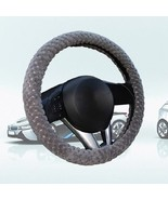 Pearl Velvet Winter Car Gray Steering Wheel Cover Soft Warm Plush Universal - $6.80