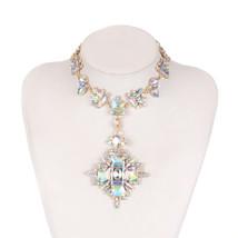 2018 Summer Geometric Fashion Crystal Choker Necklace Women Wedding Boho... - $20.08