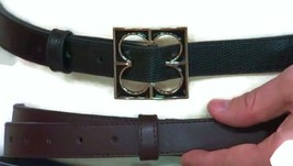 Liz Claiborne New York Nappa & Lizard Exchangeable Skinny Belt  XL/1X - $12.86
