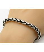 925 Sterling Silver- Vintage Minimalist Braided Style Chain Bracelet - B... - $121.03