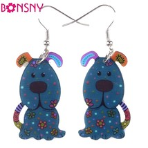 Drop Dog Hot Brand Earrings Acrylic Pattern Long Dangle Earrings Fashion... - $9.19