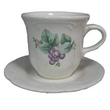 Pfaltzgraff Grapevine Flat Cup (Tea Cup) and Saucer 1 Each - $14.84