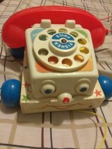 1985 FISHER PRICE Chatter Telephone Pull Toy Good Condition #2035 - $7.70