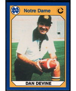 1990 Collegiate Collection Notre Dame #28 Dan Devine NM Near Mint - $0.75