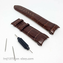 Brown Leather strap Watchband for Tissot T035627A and T035614A 24mm w/o ... - $34.65