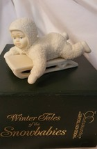 Dept 56 Snowbabies Winter Tales 1986 HOLD ON TIGHT 79561 Retired 1999 - $8.00