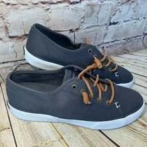 Sperry Top Sider Womens Navy Blue Canvas Lace Up Sneakers Size 6 - $32.41