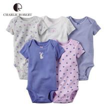 Baby Bodysuits, 5Pcs Short Sleeve Jump Set HK1206 - $43.99