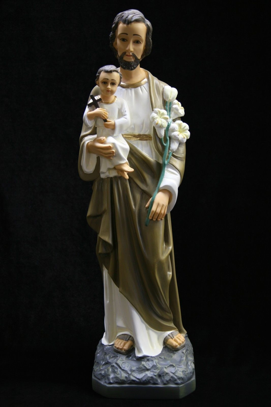 "Primary image for 19"" Saint Joseph with Holy Baby Jesus Catholic Statue Sculpture Made in Italy"