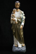 "19"" Saint Joseph with Holy Baby Jesus Catholic Statue Sculpture Made in ... - $119.95"