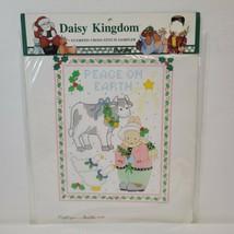 Vtg Bucilla Daisy Kingdom Stamped Cross Stitch Sampler Sp Ed Christmas 63448 - $13.54
