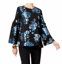 Alfani Petite Floral-Print Top in Teal Garden,Size  XL - $25.00