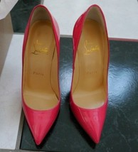 NIB 100% AUTH CHRISTIAN LOUBOUTIN PIGALLE FOLLIES PINK PATENT LEATHER PU... - $691.02