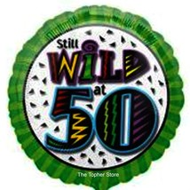 Lot of 9 - Still Wild at 50 Balloons -  18 Inch Foil Mylar Birthday Blac... - $10.19