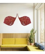 Metal Red Leaves Mural Set of 2pcs Wall Hanging Design Home Decor Wall A... - $548.02