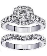 VIP Jewelry Art 3.00 CT TW Halo Princess Cut Diamond Encrusted Engagemen... - $5,999.00