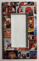 Coke Coca Cola Old posters Light Switch Power Outlet Wall Cover Plate Home decor image 2