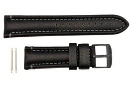 Genuine Luminox Modern Mariner 6250 24mm Genuine Leather Black Watch Ban... - $73.95