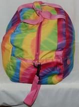 Molly N Me Brand 522B005 Rainbow Tie Dye Girls Duffle Bag With Flower Detail image 2