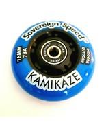 8x 76mm Inline Skate Wheels with Bearings, indoor outdoor hockey rollerb... - $69.99