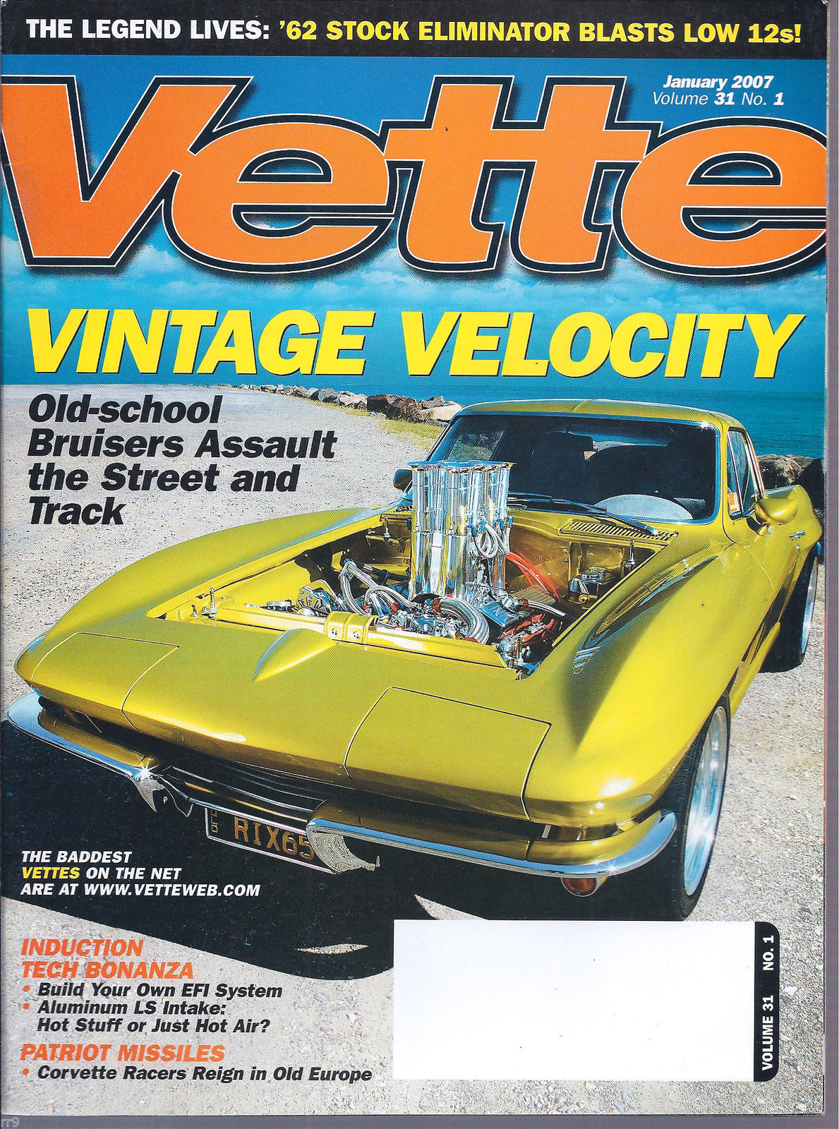 Primary image for Vette Magazine January 2007 The Legends Lives '62 Stock Eliminator