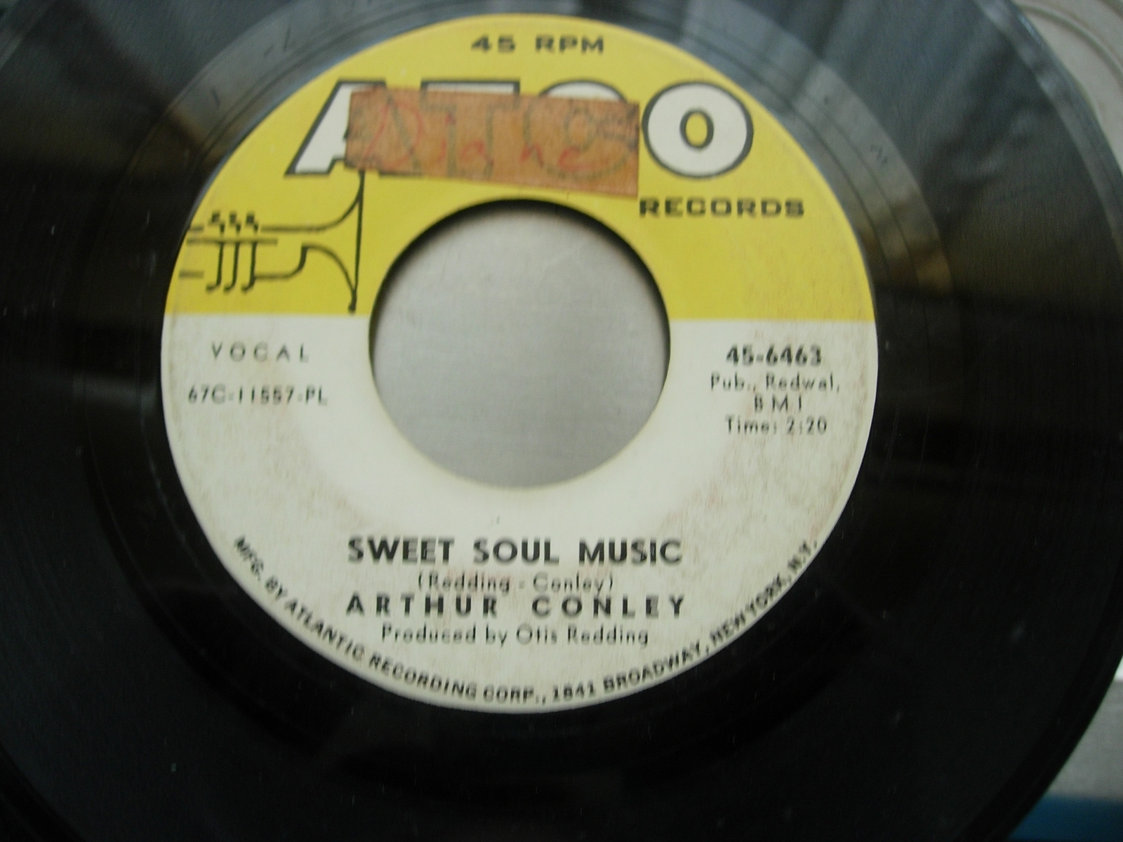 Arthur Conley - Sweet Soul Music / Let's Go Steady - Atco Records 45-6463