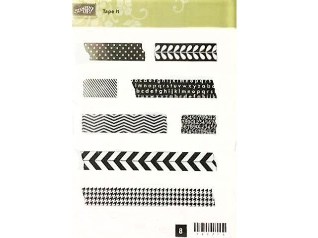Stampin' Up! Tape It Rubber Cling Stamp Set, #130715