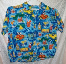 Big Dogs Button Front Shirt Mens 3X Beach Drink Print Mixed Drinks Alcohol - $28.78