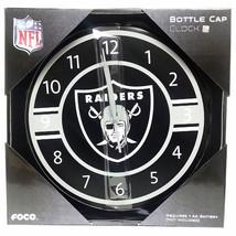 NFL Oakland Raiders Bottle cap Wall Clock Team Logo - $31.67