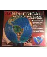 Spherical Jigsaw Puzzle World Globe; 530 Pieces 9.5 Diameter - Used - $10.00
