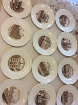 Wedgwood China  Complete 12 Plates of Old London Views 1st Edition 1941  - $117.80