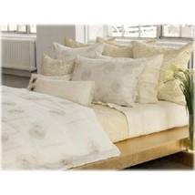 DKNY City Charm 8P Queen Duvet Shams Pillows Quilt Set Ivory Gold HTF NIP - $712.45