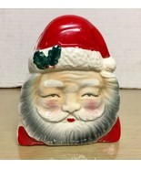 Vintage Japan #3362 -Santa Claus ceramic Napkin Holder -EX - £9.78 GBP