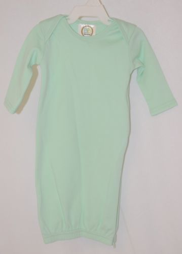 Blanks Boutique Mint Green Long Sleeve Unisex Infant Gown With Hidden Zipper