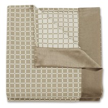 Stylemaster Dakota Full Reversible Bedspread w/ Faux Silk Border Natural... - $39.68