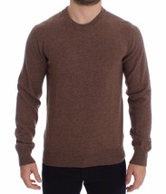 Dolce & Gabbana Brown Cashmere Crew-neck Sweater Pullover Top 14816 - $250.80