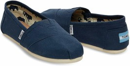 NEW Toms Women's The Venice Collection Classic Navy Canvas Slip On Flats Shoes image 1