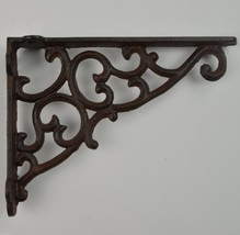 "Wall Shelf Bracket Ornate Pattern Cast Iron 9.125"" Long Crafting Supplies Decor - $17.99"