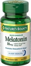 Natures Bounty Melatonin 3mg QUICK DISSOLVE 240 Tablets - $10.56